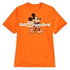 Mickey Mouse Tee for Adults - Walt Disney World | Disney StoreMickey Mouse Tee for Adults - Walt Disney World - Rediscover the nostalgic appeal of this comfy Mickey Mouse tee featuring his signature pose and the vintage Resort logo. In bright, tonal orange, it doesn't get any more classic than this!