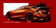 Honda civic type-r sketch using sketchbook pro