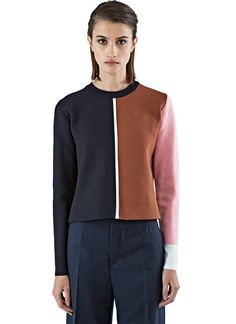 Women's Knitwear - Clothing | Shop Now at LN-CC - Colour-Blocked Intarsia Knit Sweater
