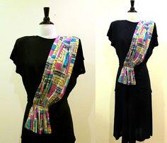 40s rayon dress / unique vintage peplum 1940s by CTMercantile, $125.00