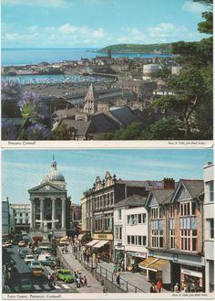 2 Unused Postcard views of Penzance, Cornwall, fair shape by VintageNEJunk on Etsy Cornwall England, Yorkshire England, Yorkshire Dales, Oxford England, London England, Cornwall Castle, Skye Scotland, Highlands Scotland, Penzance Cornwall