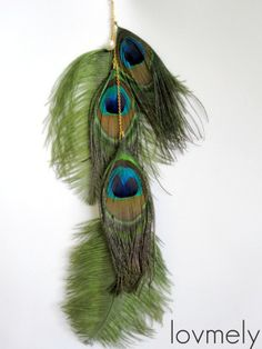 Make Long Feather Earrings | DULCE Long Single Feather Earringfree shipping USA and by LovMely