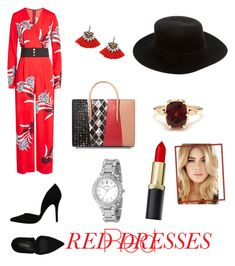 """Untitled #11"" by elena-ghitulescu on Polyvore featuring Diane Von Furstenberg, Christian Louboutin, FOSSIL, PrimaDonna, Janessa Leone and Other"