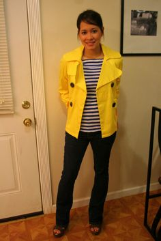 Obsessed with stripes right now and I love the yellow!