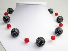 Art handgefertigte Kette aus Polymer Clay von polymerdesign auf Etsy