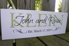 Family Established Sign Wedding Gifts family name sign with date Unique wedding gift parents anniversary gift bridal shower gift Second Year Anniversary Gift, 30th Wedding Anniversary, Anniversary Gifts For Parents, Anniversary Parties, Anniversary Ideas, Wedding Gifts For Parents, Unique Wedding Gifts, Wedding Ideas, Established Family Signs