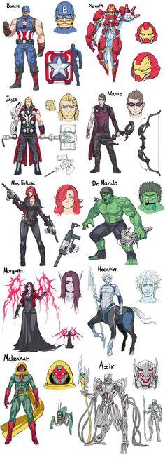 Avengers Champions - Braum, Jayce, Xerath, Varus, MF, Mundo, Morgana, Hecarim, Malzahar, and Azir