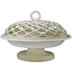 1stdibs   Antique period creamware English pottery chestnut basket 18th century