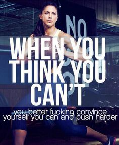 When you think you can't...