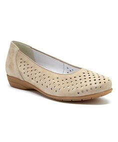 Look what I found on #zulily! Taupe Sugar Leather Flat by ara #zulilyfinds