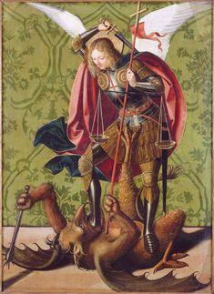 Saint Michel terrassant le démon // s. XV // Josse Lieferinxe // Avignon, musée du Petit Palais