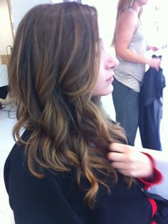 highlights. If I was ever going to go brunette, I would totally do this.