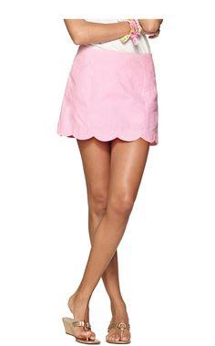 "January Scallop Hem Skort in ""Pb Pink Lucky Seersucker"" (Spring 2014)"