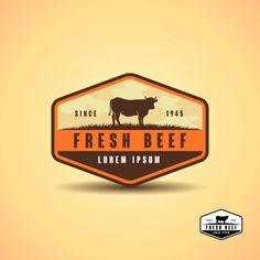 Distrologo - Freepik Cow Vector, Grass Vector, Carnicerias Ideas, Cow Illustration, Business Stamps, Simple Signs, Farm Logo, Graphic Design Templates, Silhouette Vector