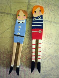So cute} clothespin people