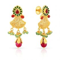 malabar gold ethnix earring collection jewellery designs