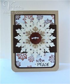 Card by Marisa Ritzen using Holiday Treats and Joyous Noel from Verve.  #vervestamps