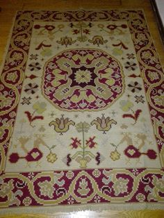 Next Portuguese Arraiolos rug to recover Portuguese, Diy And Crafts, Portugal, Cross Stitch, Rugs, Home Decor, Jute Rug, Embroidered Cushions, Interior Decorating