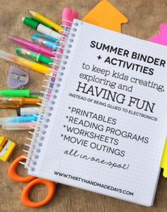 Need some activity ideas for the kids this summer? Check out these free printables.