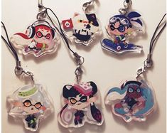 game inspired stuff that I made by FinniChang Boy Illustration, Acrylic Charms, Cute Pins, Pin Badges, Steven Universe, Keychains, Chibi, Etsy Seller, Charmed