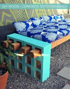 Homemade  Fast & Easy Patio Bench