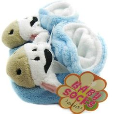 KF Baby Animal Soft Sole Booties, for 3-12 Months - Cow: Baby