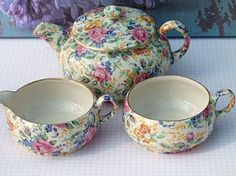 James Kent Chintz    Tea for one set