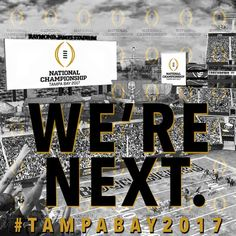 What a game College Football Playoff!  Here we go Tampa Bay #CFP National Championship #TampaBay2017 see you next year!  #CFBPlayoff