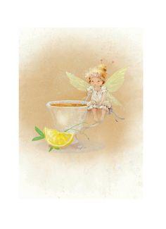 """Просмотреть иллюстрацию Немного о феях..( """"Кто пил мой чай?"""") из сообщества русскоязычных художников автора  Екатерина Бабок в стилях: Классика, нарисованная техниками: Другое."""