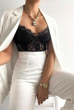 Glamouröse Outfits, Teen Fashion Outfits, Suit Fashion, Cute Casual Outfits, Look Fashion, Pretty Outfits, Stylish Outfits, Night Outfits, Elegantes Business Outfit