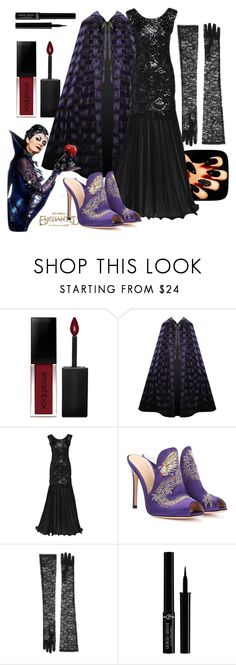"""Queen Narissa - Enchanted"" by vintage2modern ❤ liked on Polyvore featuring Smashbox, Gianvito Rossi, Gucci, Giorgio Armani, disney, enchanted, villain, susansarandon and LiveAction"