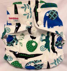 Blue Safari Cloth Diaper Cover