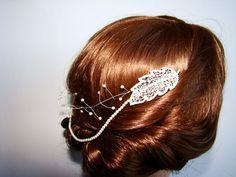 Hey, I found this really awesome Etsy listing at https://www.etsy.com/listing/186435143/filigree-leaf-comb-hair-chain-bridal