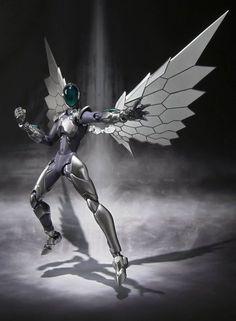 Accel World - Silver Crow - (Bandai) Cyberpunk, Aliens, Japanese Video Games, Accel World, Robot Design, Superhero Design, Japanese Toys, Image Manga, Mecha Anime