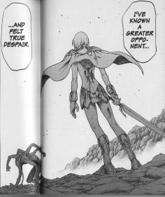 """Clare quote to Helen.  """"Despair?  After only this?""""  #Claymore 6."""