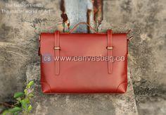 Leather 13″15″ MacBook Bag Handmade Crazy Horse Leather Briefcase Messenger Bag 13″ 14″ Laptop Bag
