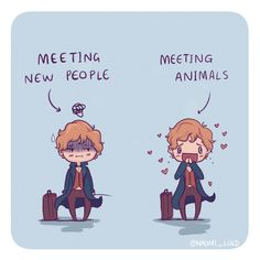 I can really relate to Newt haha animals are wayyy easier to talk to than people :3