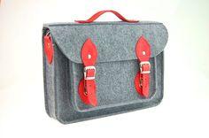 Felt Laptop 17 inch bag with pocket, satchel, Macbook Pro 17 inch, CUSTOM SIZE Laptop bag, case with leather straps and belt shoulder