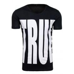 Pánske tričko s okrúhlym výstrihom v čiernej farbe - fashionday.eu Sports, Tops, Fashion, Self, Colors, Hs Sports, Moda, Fashion Styles, Sport