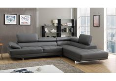 7 Best Grey Leather Sofa images in 2018 | Grey leather couch ...
