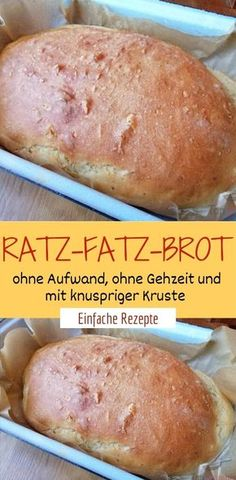 Ratz-Fatz bread without effort, without walking time and with crispy .- Ratz-Fatz-Brot ohne Aufwand, ohne Gehzeit und mit knuspriger Kruste 😍 😍 … Ratz-Fatz-bread without effort, without walking time and with crunchy crust 😍 😍 😍 - Healthy Snacks Before Bed, Healthy Toddler Snacks, Snacks For Work, Healthy Snacks For Kids, Easy Snacks, Easy Healthy Recipes, Easy Meals, Delicious Recipes, Law Carb