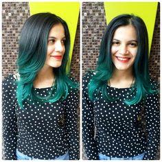 Green Balayage hairstyle