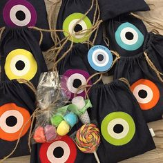 colourful#back#packs#evil#eyes#baptism#favors#