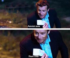 "THE MENTALIST: ""Patrick Jane, That's me!"""