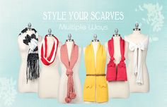Different ways to style your scarves!