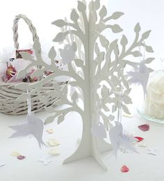 wedding wishing charm tree with four doves by the flower studio | notonthehighstreet.com
