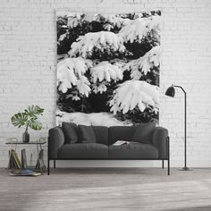 20% OFF + FREE WORLDWIDE SHIPPING TODAY! Snow Covered Fir Tree Wall Tapestry by ARTbyJWP via Society6 #homedecor #shop #walltapestry #wallhanging #wallart #walldeco - Available in three distinct sizes, our Wall Tapestries are made of 100% lightweight polyester with hand-sewn finished edges. Featuring vivid colors and crisp lines, these highly unique and versatile tapestries are durable enough for both indoor and outdoor use. Machine washable for outdoor enthusiasts, with cold water.
