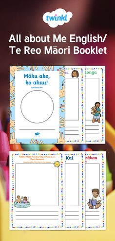 This resource uses Te Reo Māori and English. Use this booklet to get to know the children in your care. Great for bilingual learning environments and classrooms who would like to extend their use of Te Reo Māori. Learning Environments, Booklet, Homeschooling, Classroom, English, Maori, Class Room, Learning Spaces, English Language