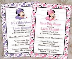 Minnie Mouse Baby Shower Invitations Printables – InviteTown