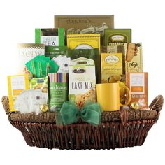 Surprise your significant other, client or mother with eight varieties of tea and an assortment of scrumptious treats. With teas ranging from English breakfast to lemon and ginger herbal, this basket